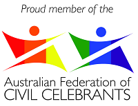 A logo showing two stylised human figures coloured in rainbow hues to symbolise marriage equality