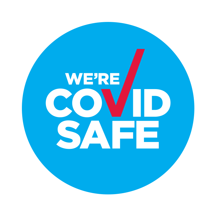 """official NSW Health """"WE'RE COVID SAFE"""""""
